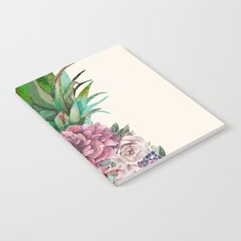 Floral Pineapple Notebook