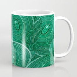 Green Malachite Nature Pattern Design Abstract Coffee Mug