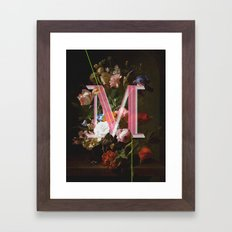 Letter M Framed Art Print