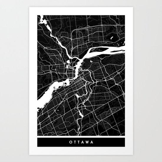 Ottawa - Minimalist City Map by fabledcreative