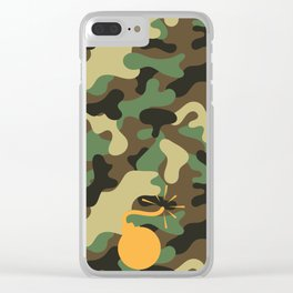 CAMO & ORANGE BOMB DIGGITY Clear iPhone Case