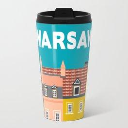 Warsaw, Poland - Skyline Illustration by Loose Petals Travel Mug