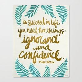 Ignorance & Confidence #1 Canvas Print