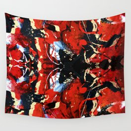 Red thoughts, Abstract Painting collection Wall Tapestry