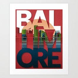 Baltimore - Skyline series Art Print