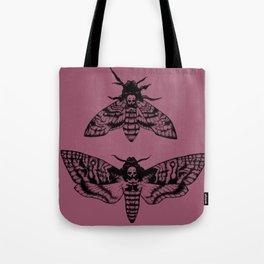 Purple Deaths Head Hawk Moth Pointillism Tote Bag