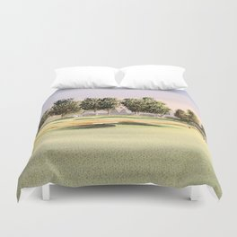Oakmont Golf Course Duvet Cover