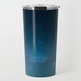 Navy Blue Star Galaxy Travel Mug
