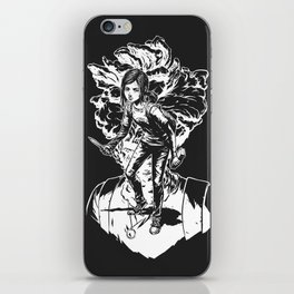 Ellie Last Of Us white iPhone Skin