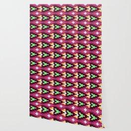 Dark Purple Arrowhead Native Aztec Pattern Wallpaper