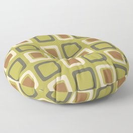Mid Century Modern Squares Chartreuse Floor Pillow