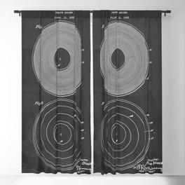 Phonograph Record Vintage Patent Blackout Curtain