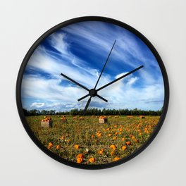 Pumpkin season is here Wall Clock