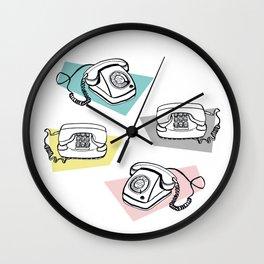 Retro phones Wall Clock