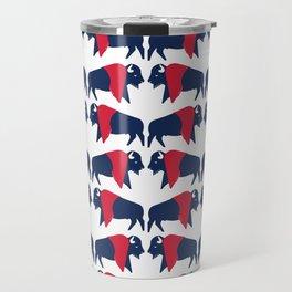American bison - USA national symbol, flag colors Travel Mug