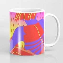 Sunset in the desert of the real Coffee Mug