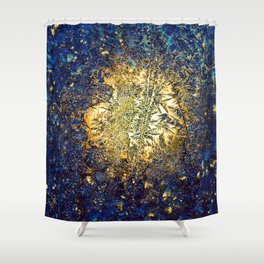 Golden ice Shower Curtain