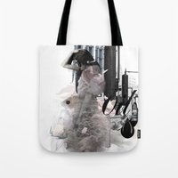 oil Tote Bags featuring OIL by CITYABYSS