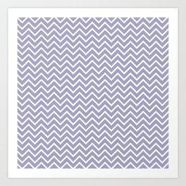Lavender & White Chevron Pattern Art Print