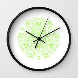 Mandala Trinity green Emerald Peridot Wall Clock