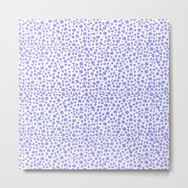 Small Random Dots Salmon BLUE Metal Print