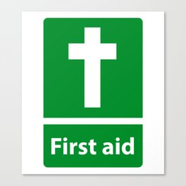 First Aid Cross - Christian Sign Illustration Canvas Print