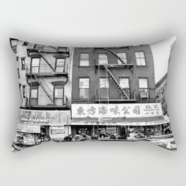 China Town Streets in New York City Rectangular Pillow