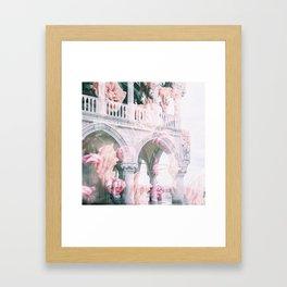 Floral In Venice Framed Art Print