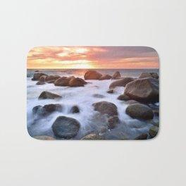 Rocky Shore Seascape Sunset Bath Mat