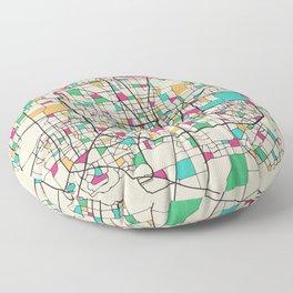 Colorful City Maps: Houston, Texas Floor Pillow