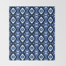Bright Bue Diamond Pattern Throw Blanket