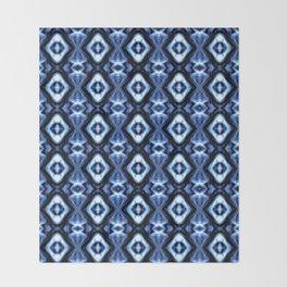 Bright Bue Diamond Pattern Throw Blanket