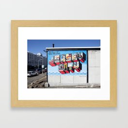 Greetings From Jersey City Framed Art Print