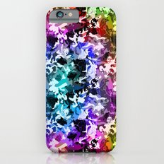Colorful Camouflage with Fish iPhone 6s Slim Case