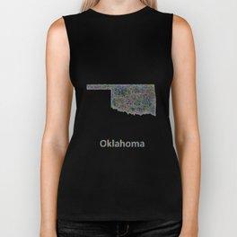 Oklahoma map Biker Tank