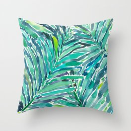 TROPICAL CANOPY Palm Leaves Throw Pillow