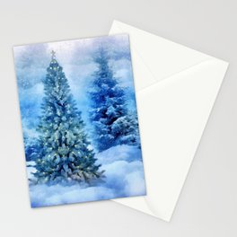 Christmas tree scene Stationery Cards