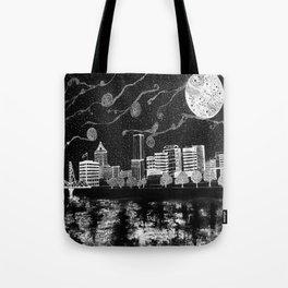 Portland Oregon Skyline Tote Bag