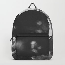 Black and white anemone flowers Backpack