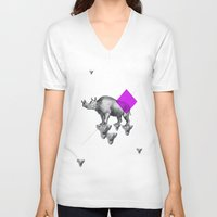 psychology V-neck T-shirts featuring Archetypes Series: Solitude by Attitude Creative