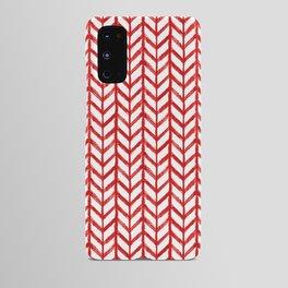 Shibori Chevrons - Peppermint Android Case