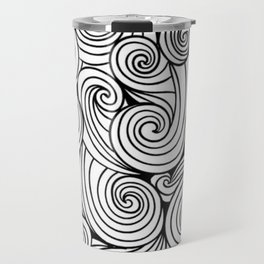 Ocean swirls and curls. Travel Mug