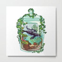 Whale Plant Terrarium Metal Print
