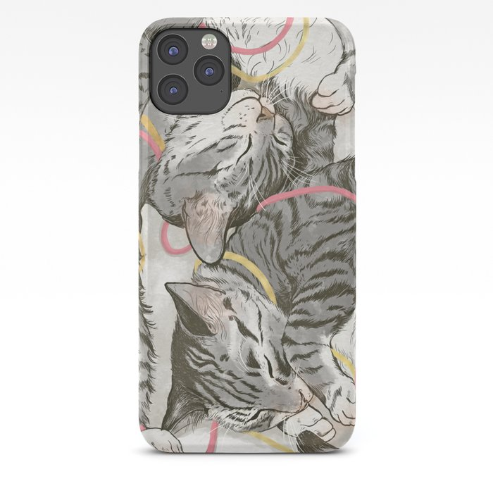 cats gold and rose iPhone Case