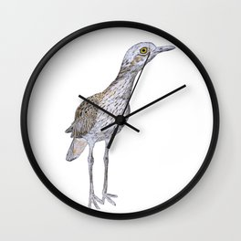 Suspicious Curlew Wall Clock