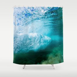 Tropical Underwater Wave Shower Curtain