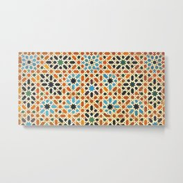 Details of Lindaraja in the Alhambra Metal Print