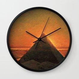 The Great Pyramid at Giza - 1871 Wall Clock