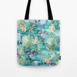 Turquesa impresiones Tote Bag