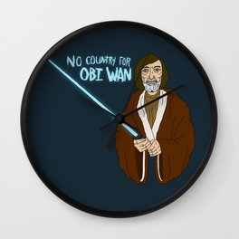 NO COUNTRY FOR OBI WAN Wall Clock